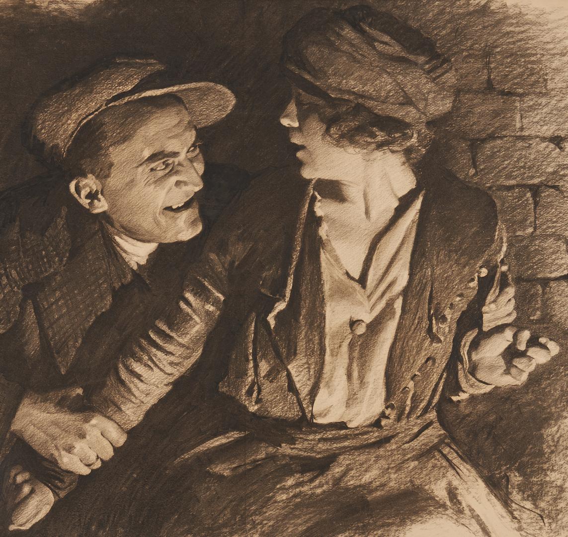 Lot 535: 2 Early 20th C. Illustrations by Bracker, Brehm