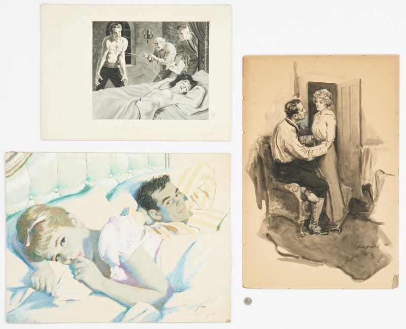 Lot 536: 3 Book or Magazine Illustrations incl. Sarnoff, Grefe