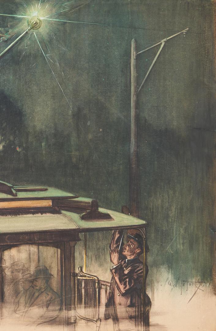 Lot 539: Pulp Fiction Illustration Art and Sci-Fi Painting, 3 pcs