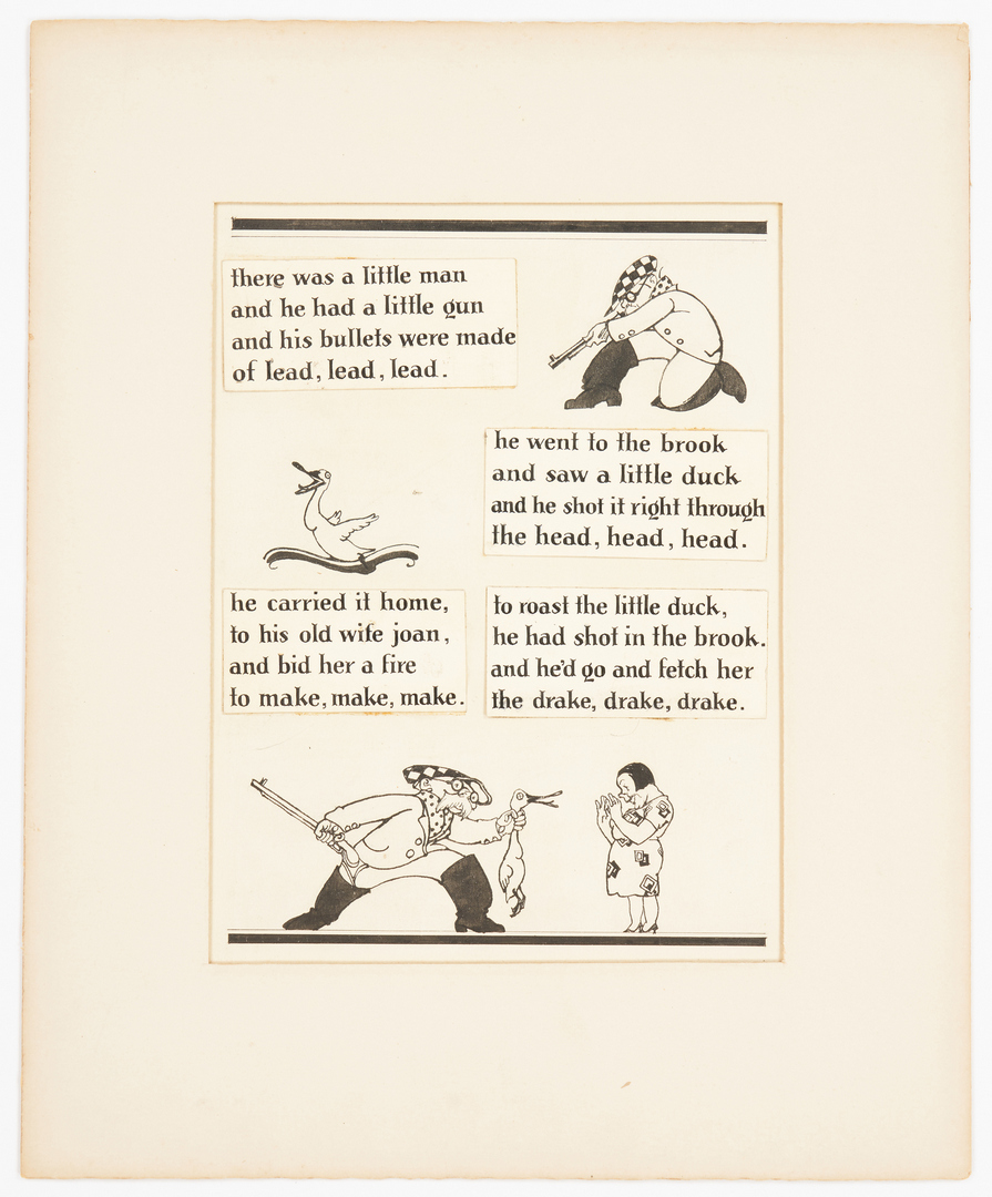 Lot 542: 8 Willy Pogany Mother Goose Rhyme Illustrations