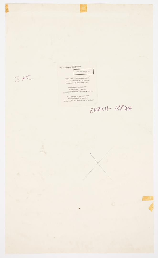 Lot 543: Enrich (Enric Torres-Prat) Western Paperback Cover Illustration