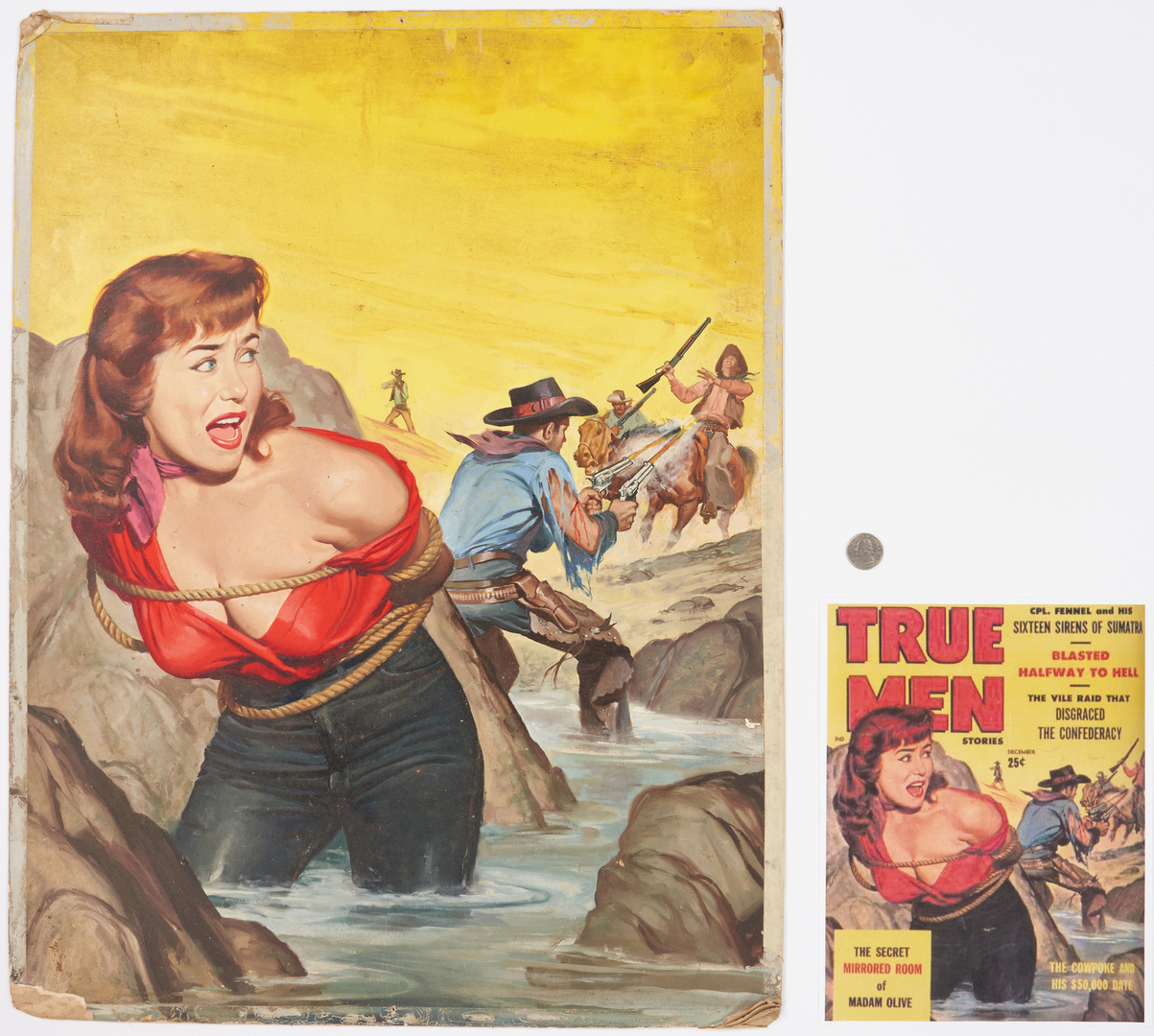 Lot 544: Will Hulsey Oil Illustration, The Cowpoke