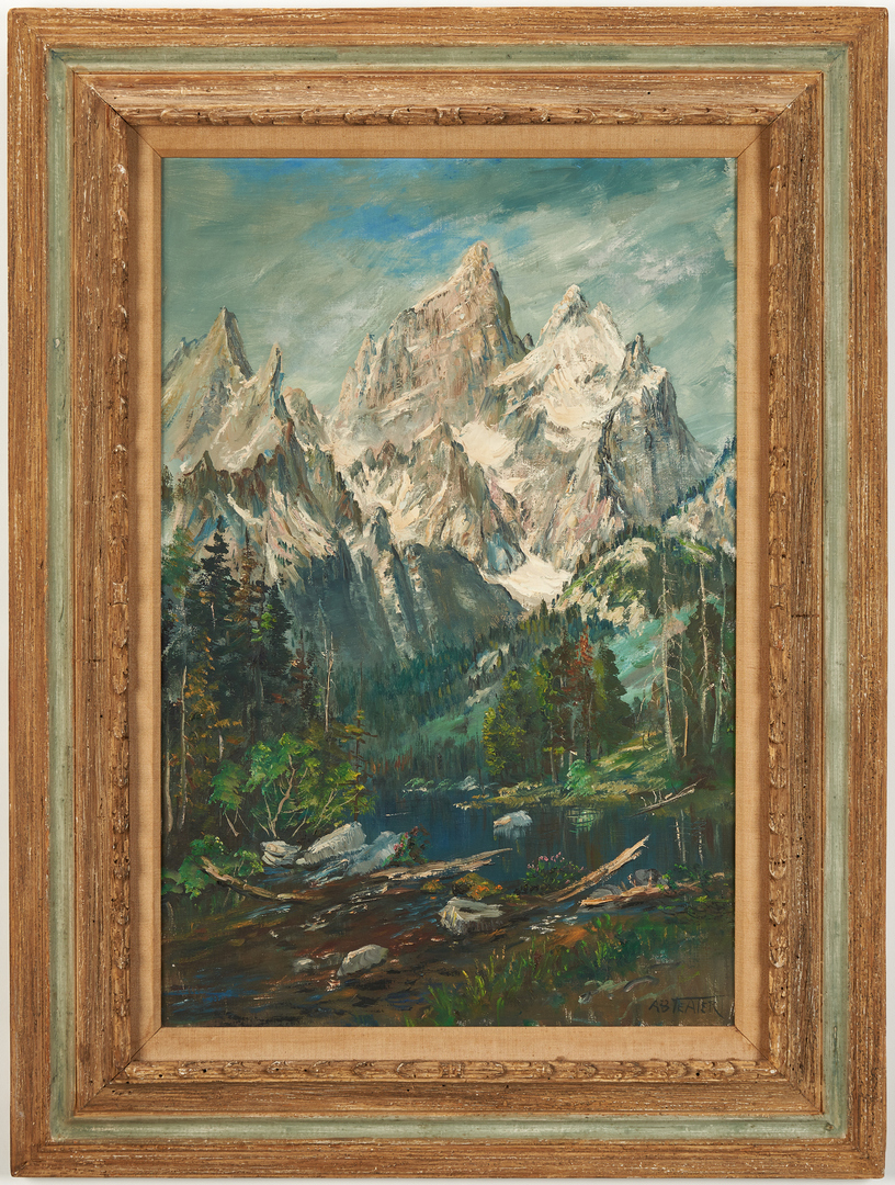 Lot 547: Archie B. Teater O/C, Cathedral Group of the Grand Tetons