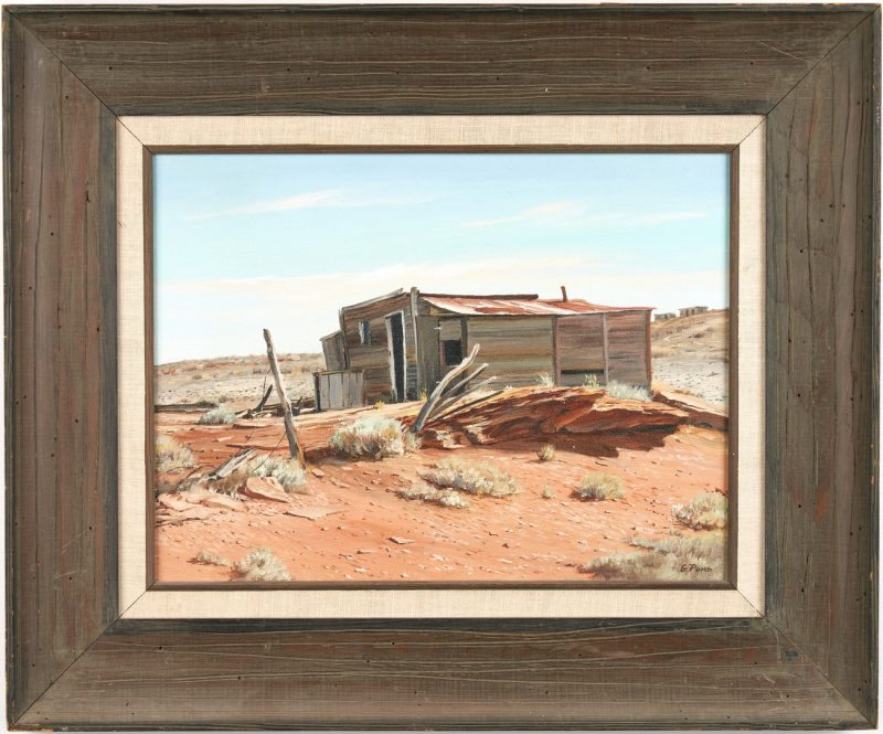 Lot 549: Gordon Pond O/C, Red Rock and Shed, Winslow, AZ