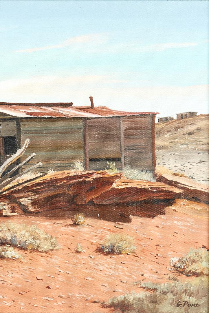 Lot 549: Gordon Pond O/C, Red Rock and Shed, Winslow, AZ