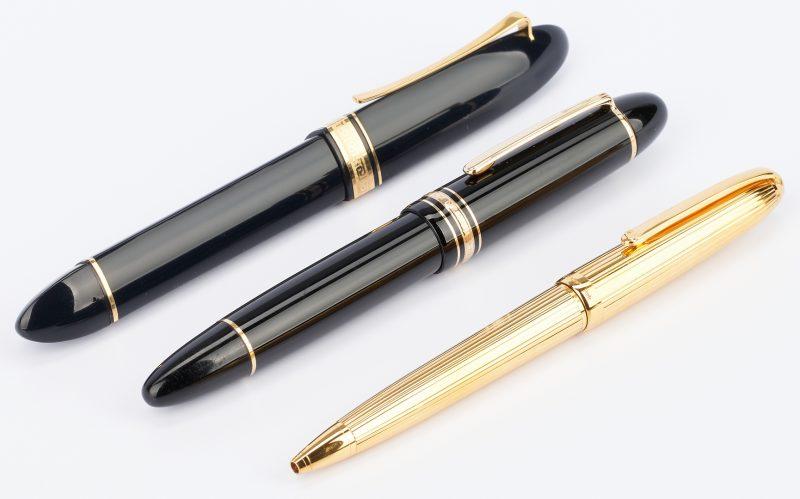 Lot 54: 3 Pens, incl. Montblanc, Cartier, Omas