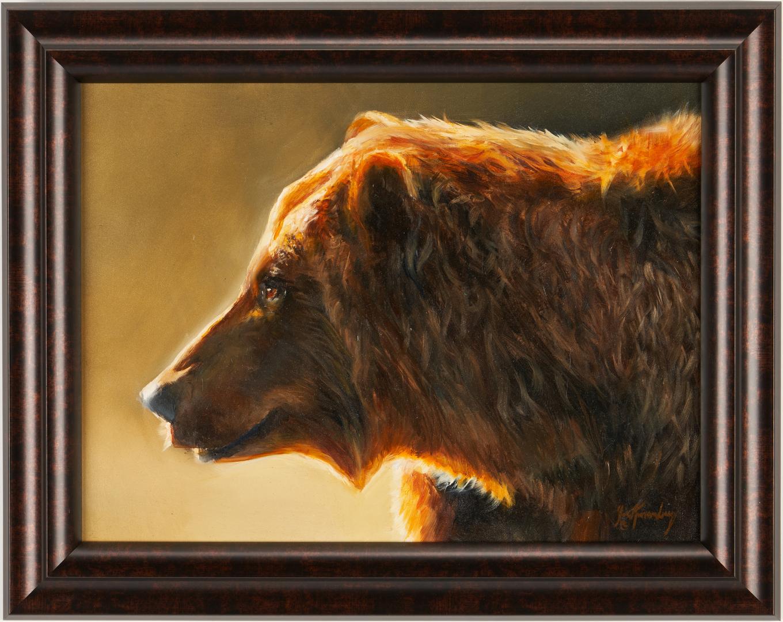Lot 550: Joe Kronenberg O/B, Brown Bear Painting