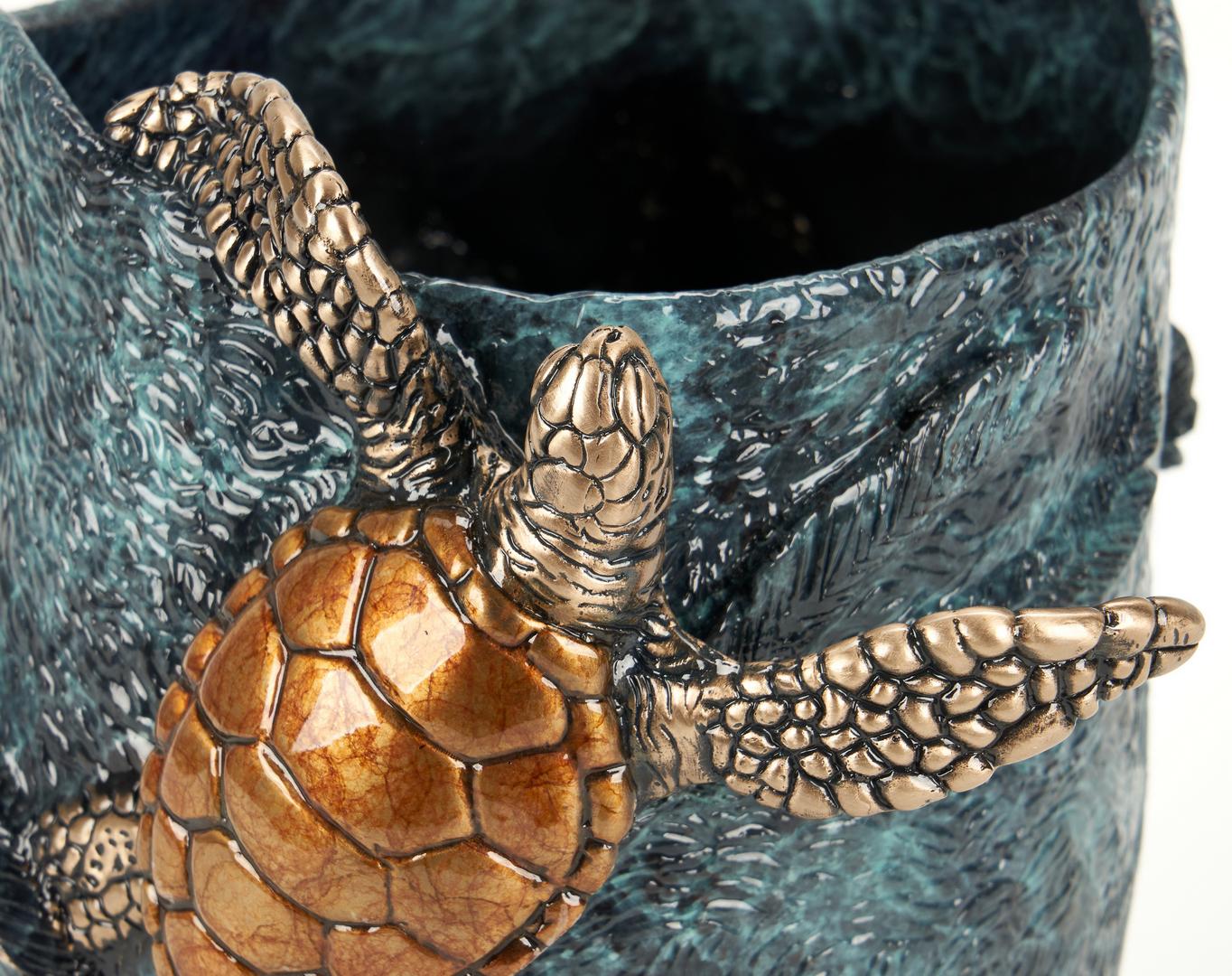 Lot 552: 2 Joseph Quillan Bronze Turtle Sculptures