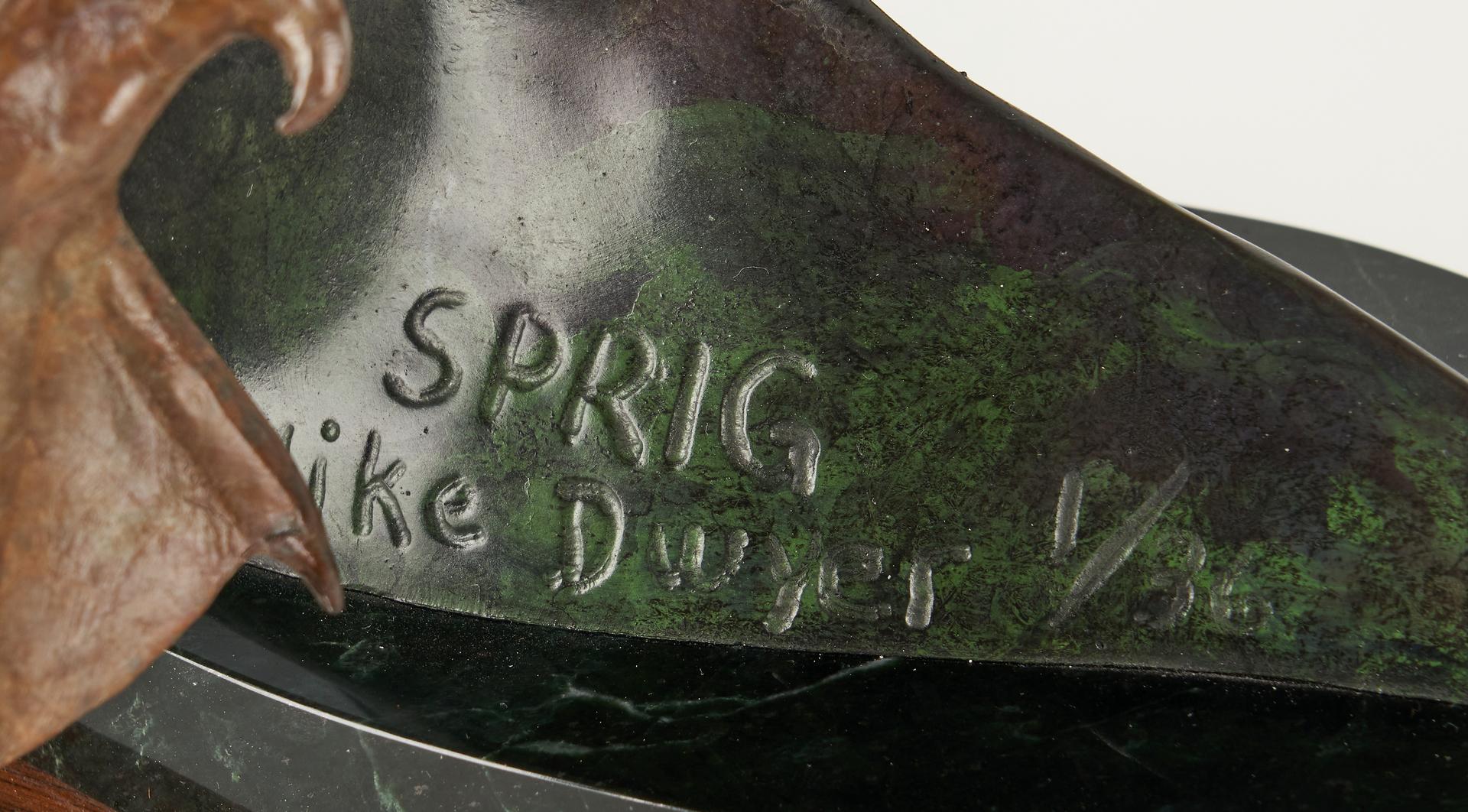 Lot 553: Mike Dwyer Bronze Duck Sculpture