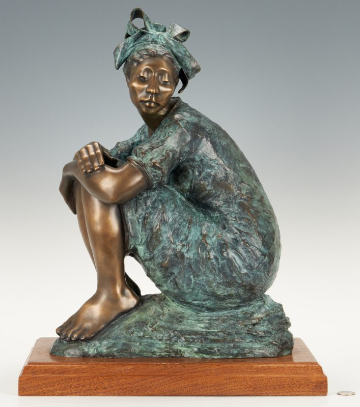 Lot 555: Shirley Thomson Smith Bronze Sculpture