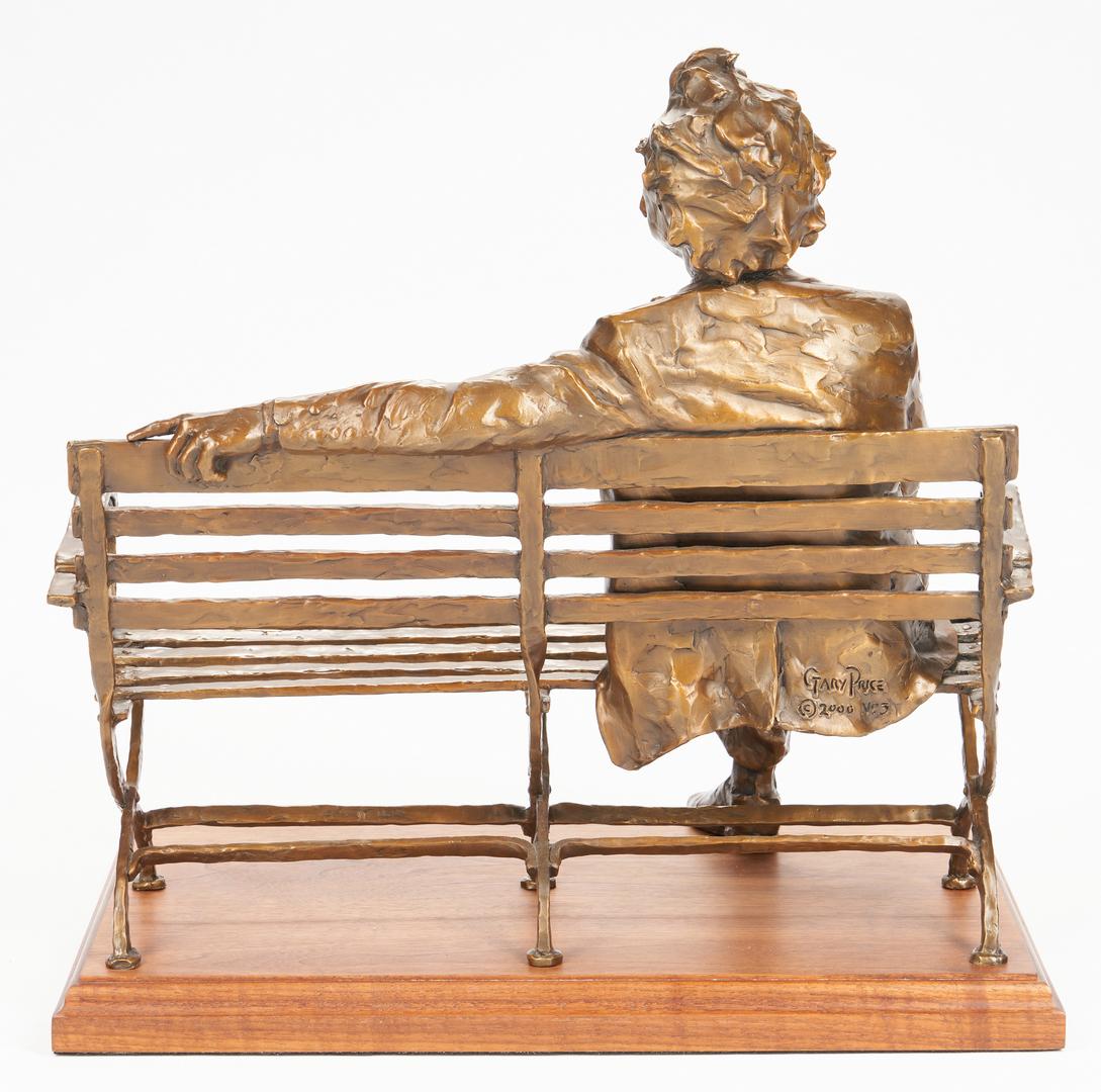 Lot 558: Gary Price Bronze Sculpture, Mark Twain