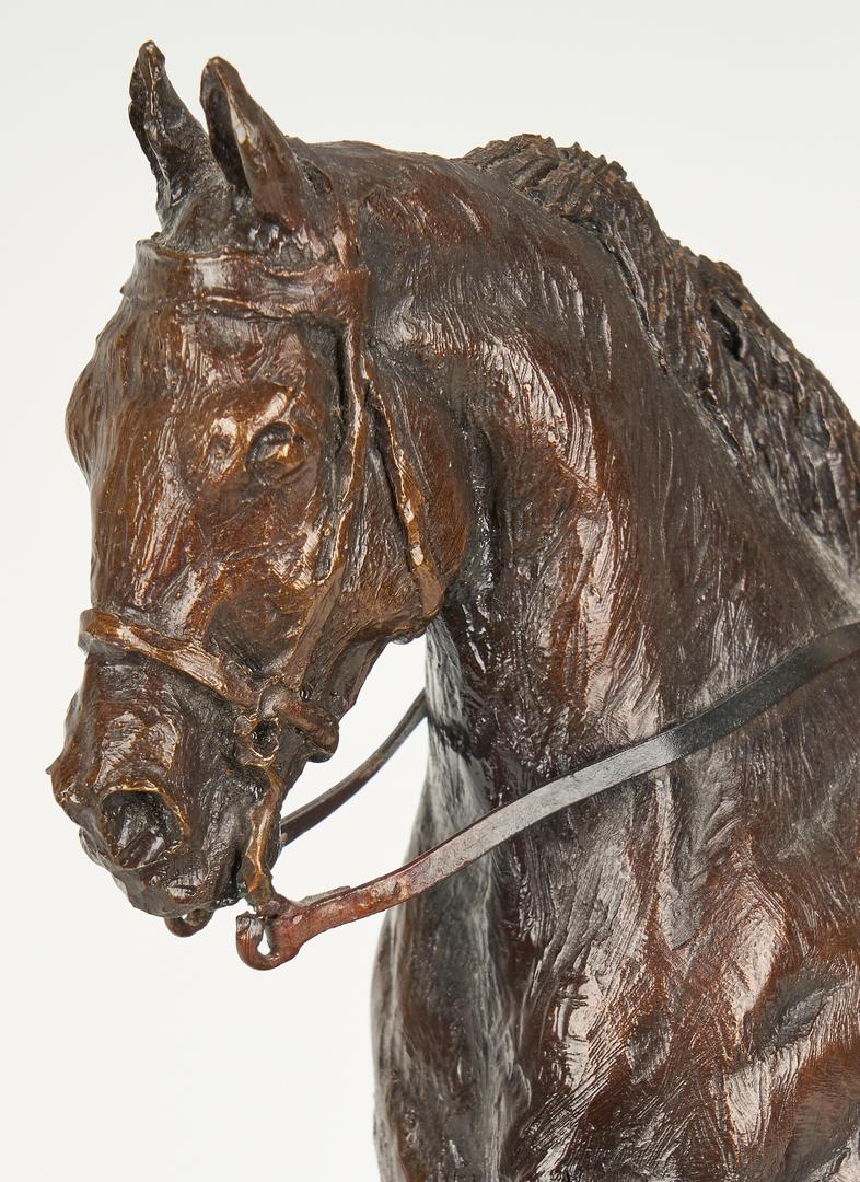 Lot 561: Clarence R. Morrison Bronze Equestrian Sculpture