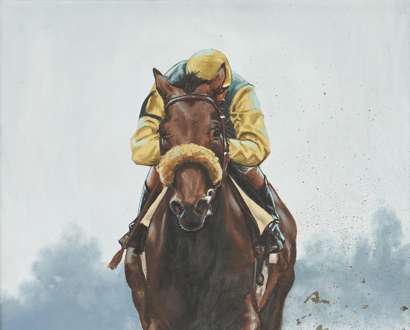 "Lot 562: Michael Finnell O/C, ""Fit to Fight"""