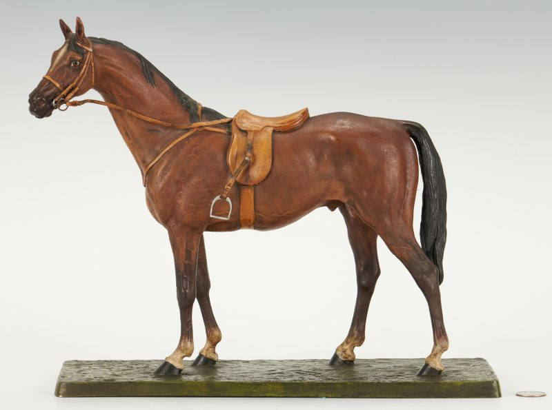 Lot 563: Carl Kauba cold painted bronze horse
