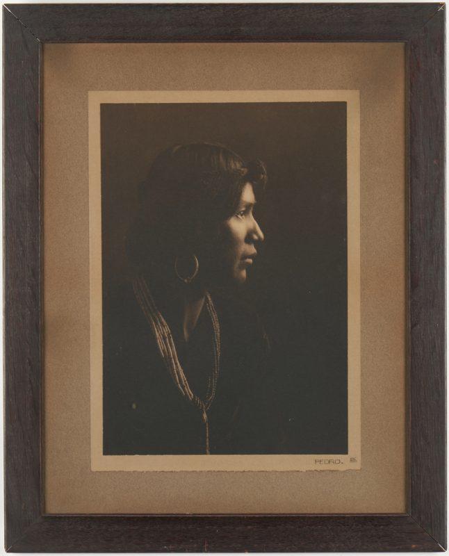 Lot 568: Karl Moon Native American Photograph, Pedro Begay