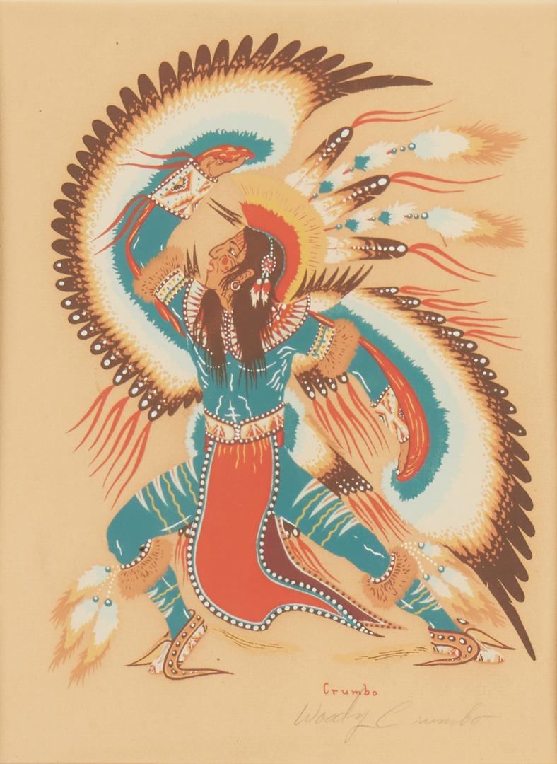 Lot 569: 5 Woody Crumbo Native American Silkscreen Prints
