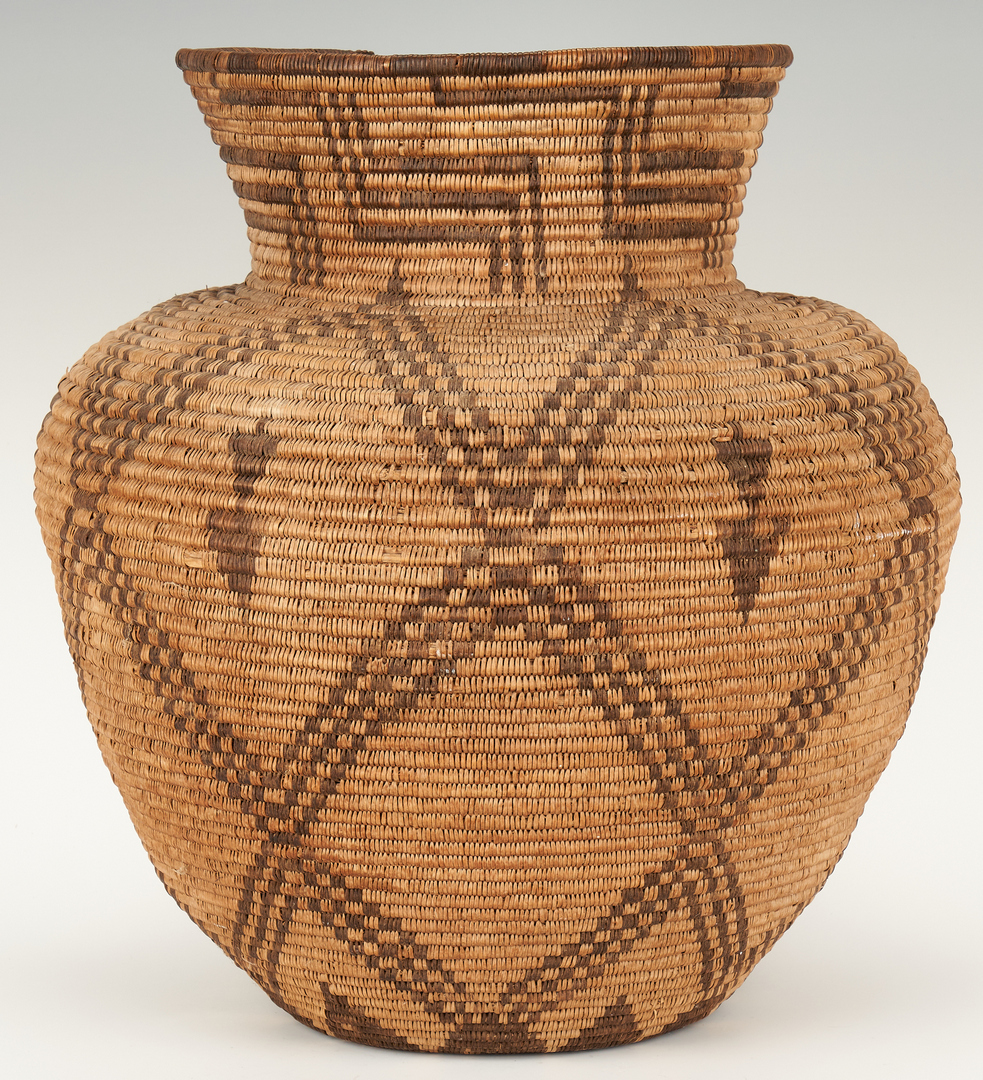 Lot 570: Large Native American Apache Olla Basket