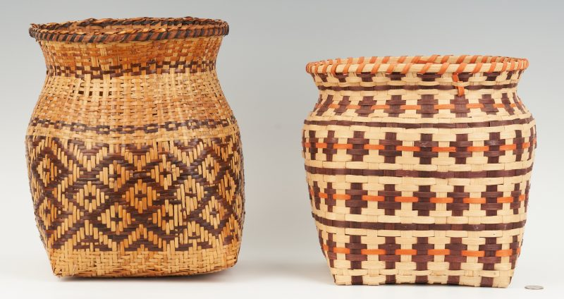 Lot 572: 3 Native American Cherokee Baskets