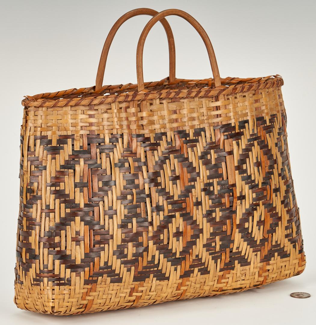 Lot 573: Cherokee Rivercane Carrying Basket