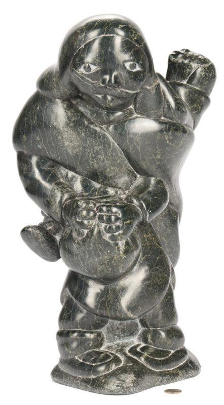 Lot 574: Large Inuit Stone Sculpture