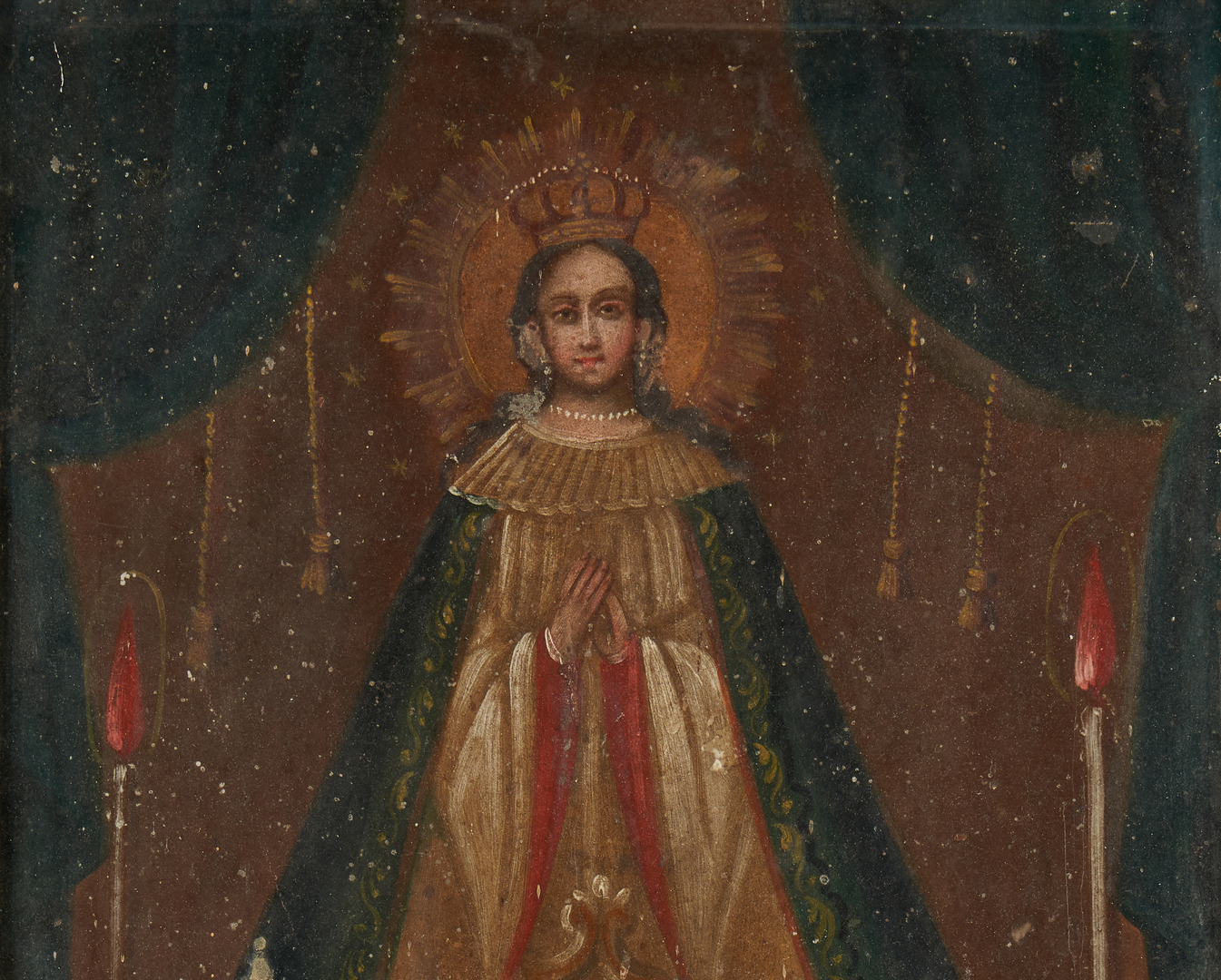 Lot 576: 3 Retablos, incl. Our Lady of Juan de Lagos
