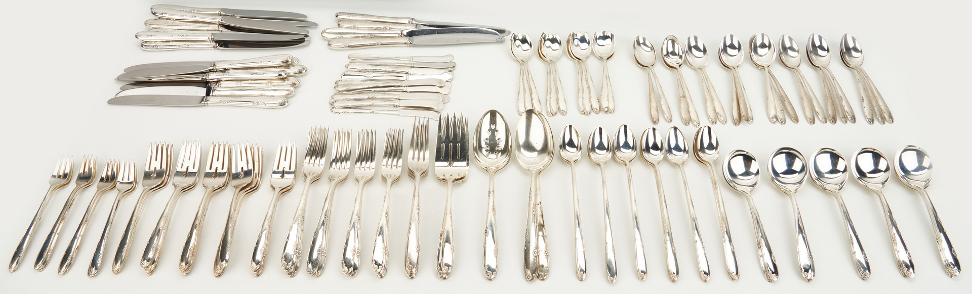Lot 57: 192 Pcs. Towle Madeira Sterling Flatware