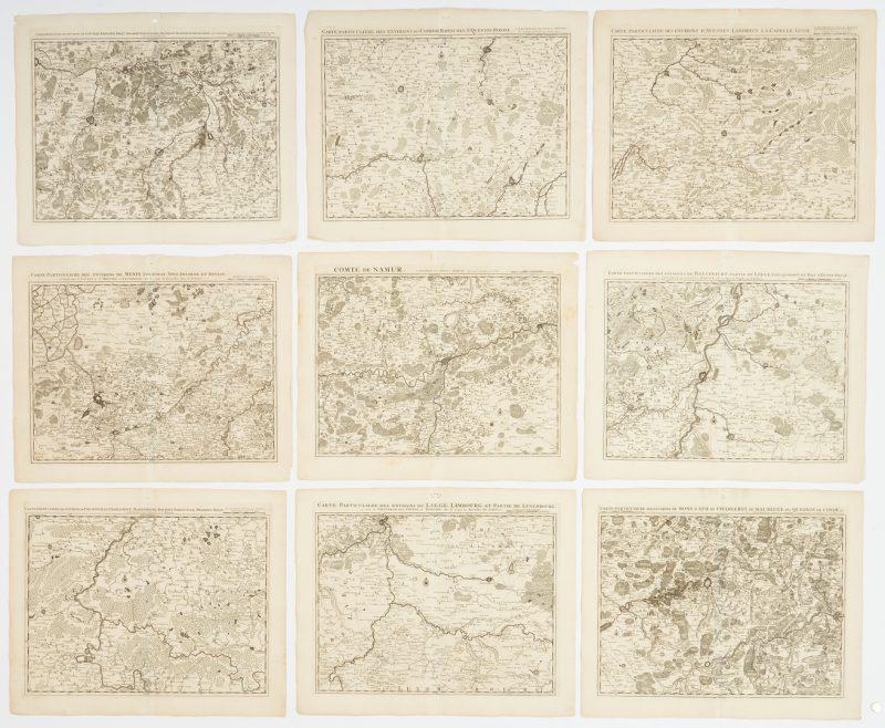 Lot 580: 9 European Maps, Fricx, 18th Century