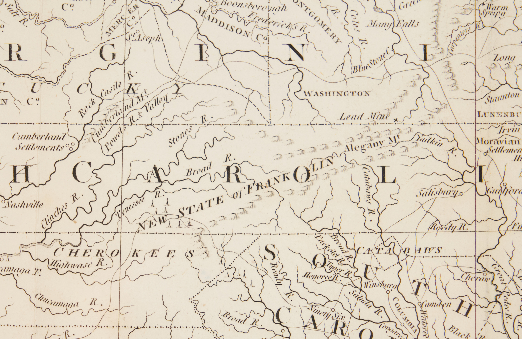 Lot 587: State of Franklin Map, Purcell