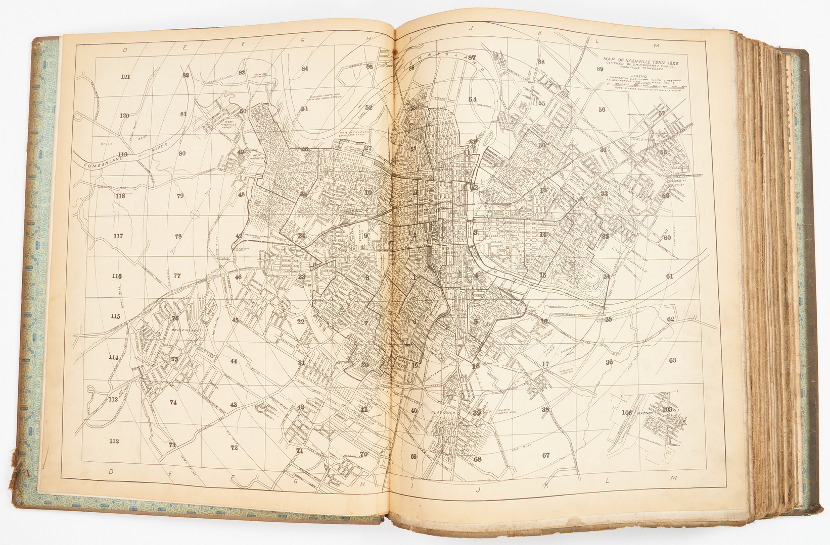 Lot 589: Nashville Plat Map Book, 1928