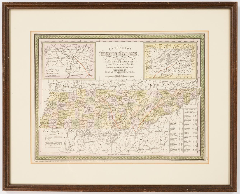 Lot 590: Four 19th Century TN Maps