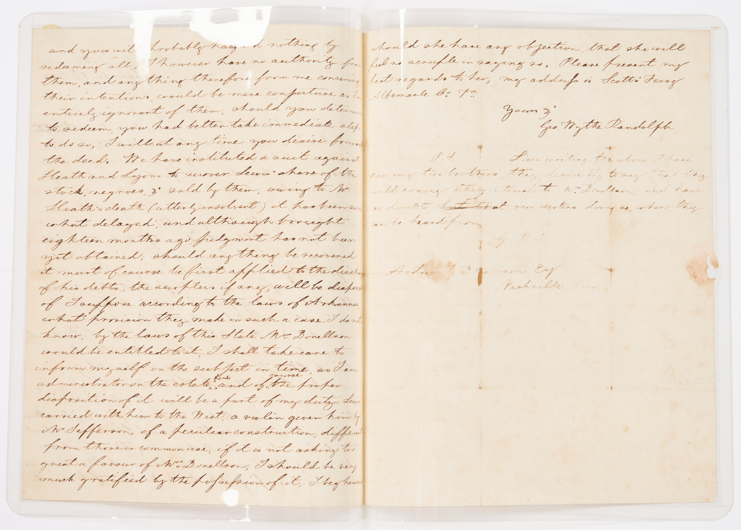 Lot 593: Randolph Family of Virginia Archive