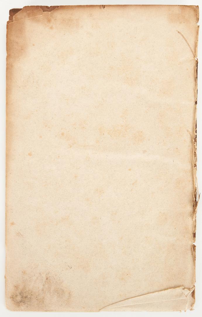 Lot 596: Catalog of Books in the Nashville Library, 1825, John Overton's copy