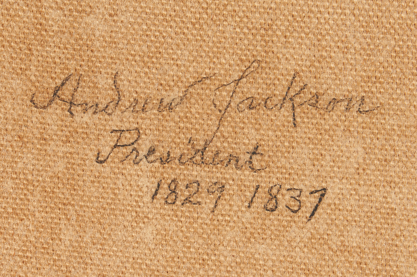 Lot 598: 19th century Portrait of Andrew Jackson