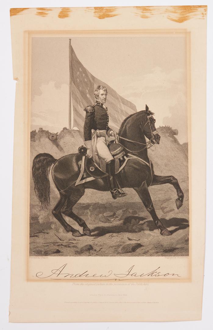 Lot 599: 17 Portrait Prints of Andrew Jackson
