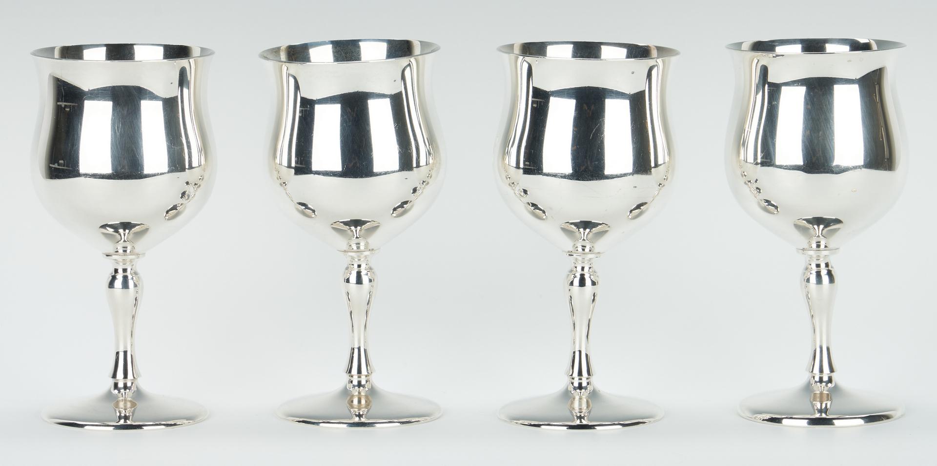 Lot 59: Set of 11 Reed & Barton Sterling Goblets