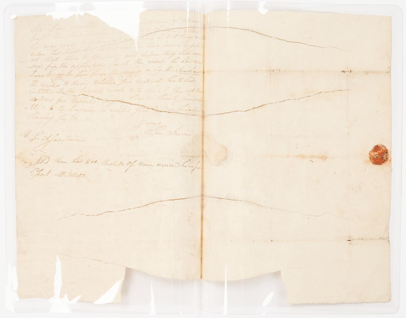 Lot 605: 2 letters to Andrew Jackson inc. Creek War, Francis Preston Blair