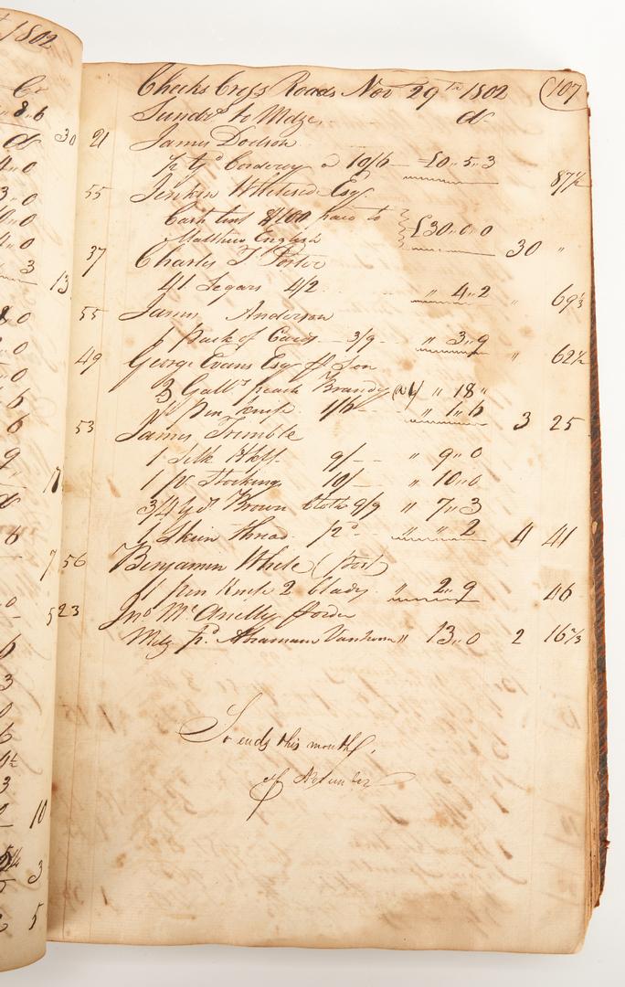 Lot 606: Cheek's Cross Roads Archive, 1802-1807, Davy Crockett interest