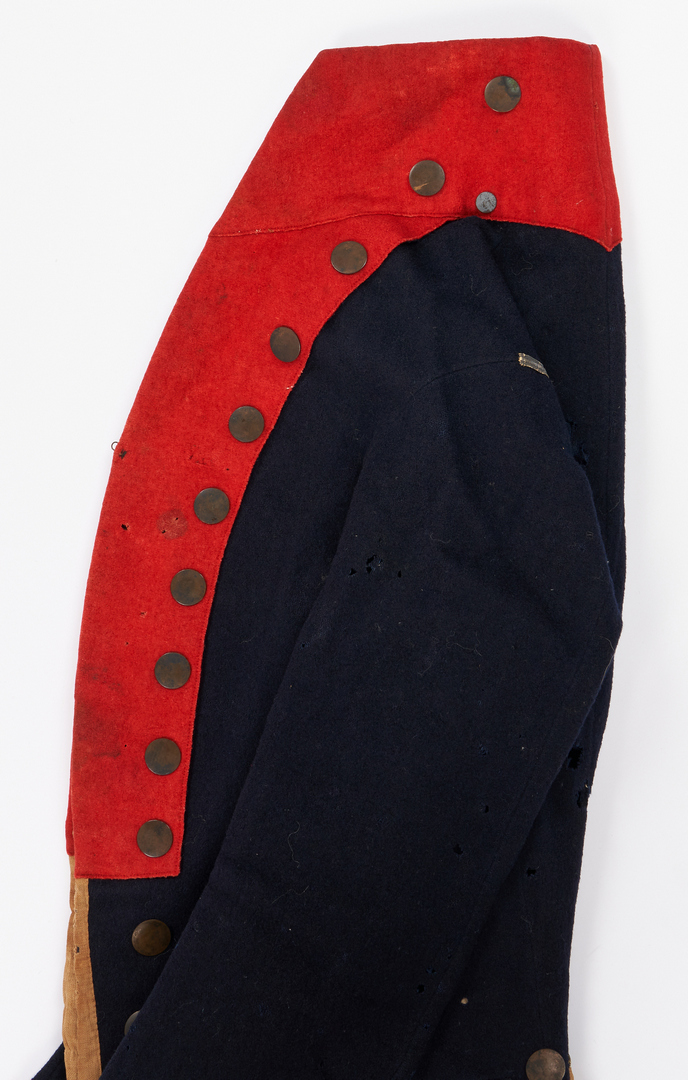 Lot 608: TN State Militia Jacket, John Sevier Commission, & Powder Horn