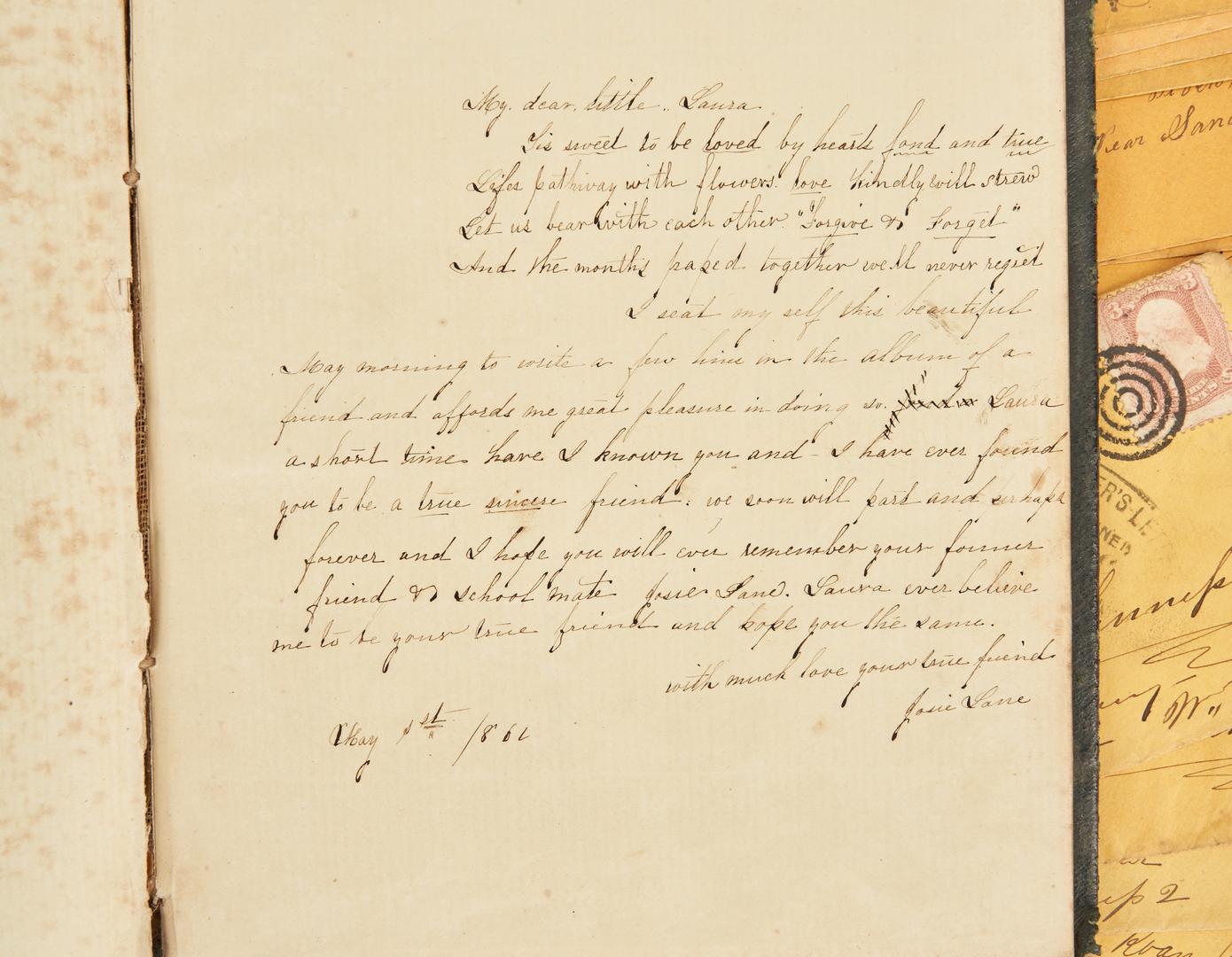 Lot 611: 63 Civil War ephemera items, incl. Soldier Ambrotype, Autograph Album, Johnson's Island Envelopes