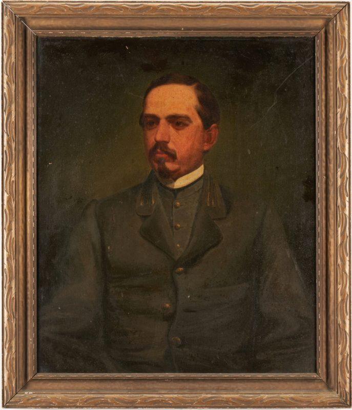 Lot 613: Portrait of CSA Capt. Samuel Wilkins, North Carolina
