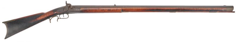 Lot 619: Mid-Atlantic or Southern Tiger Maple Long Rifle