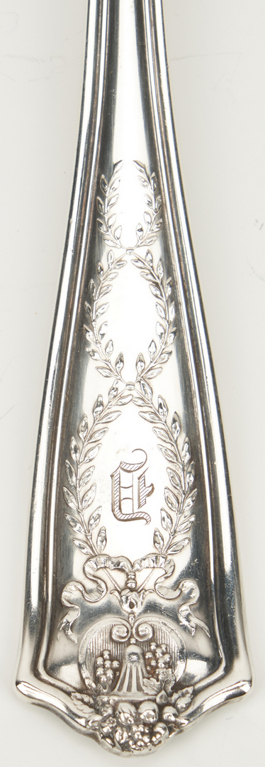 Lot 61: 91 Pcs. Tiffany Sterling Silver Flatware, Winthrop Pattern