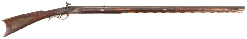 Lot 620: Pennsylvania Curly Maple Long Rifle
