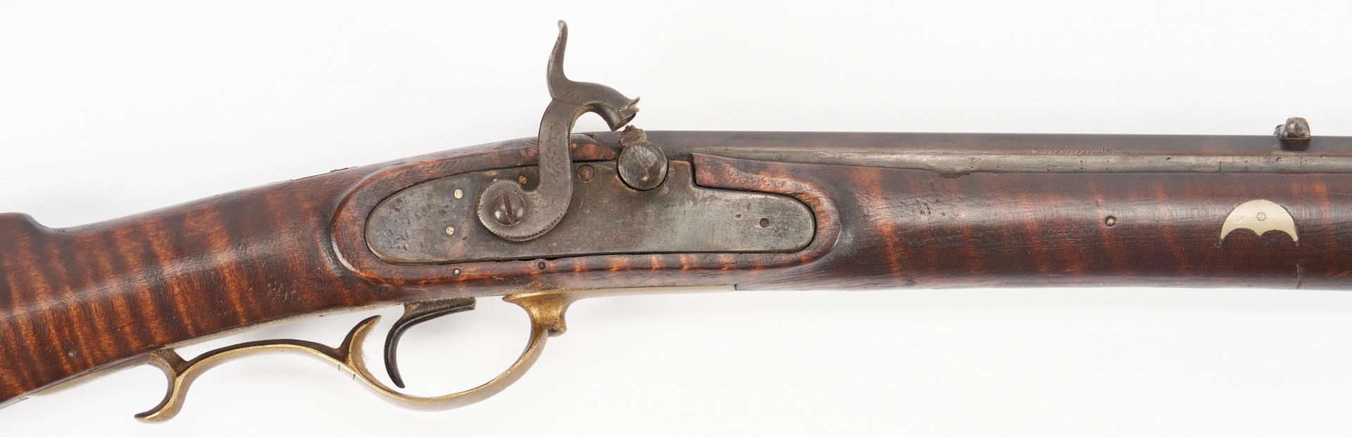 Lot 620: Pennsylvania Curly Maple Long Rifle