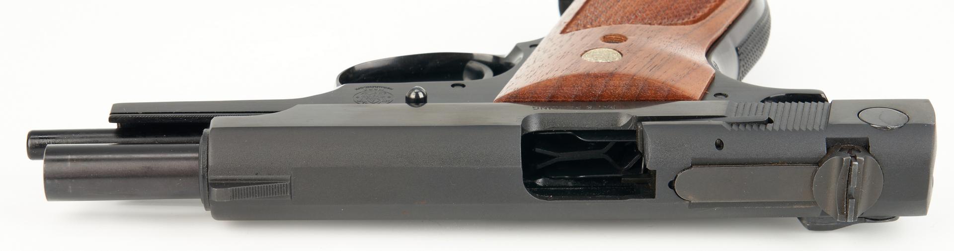 Lot 623: Boxed Smith & Wesson Pistol Model 39-2 plus Colt Commander Lightweight