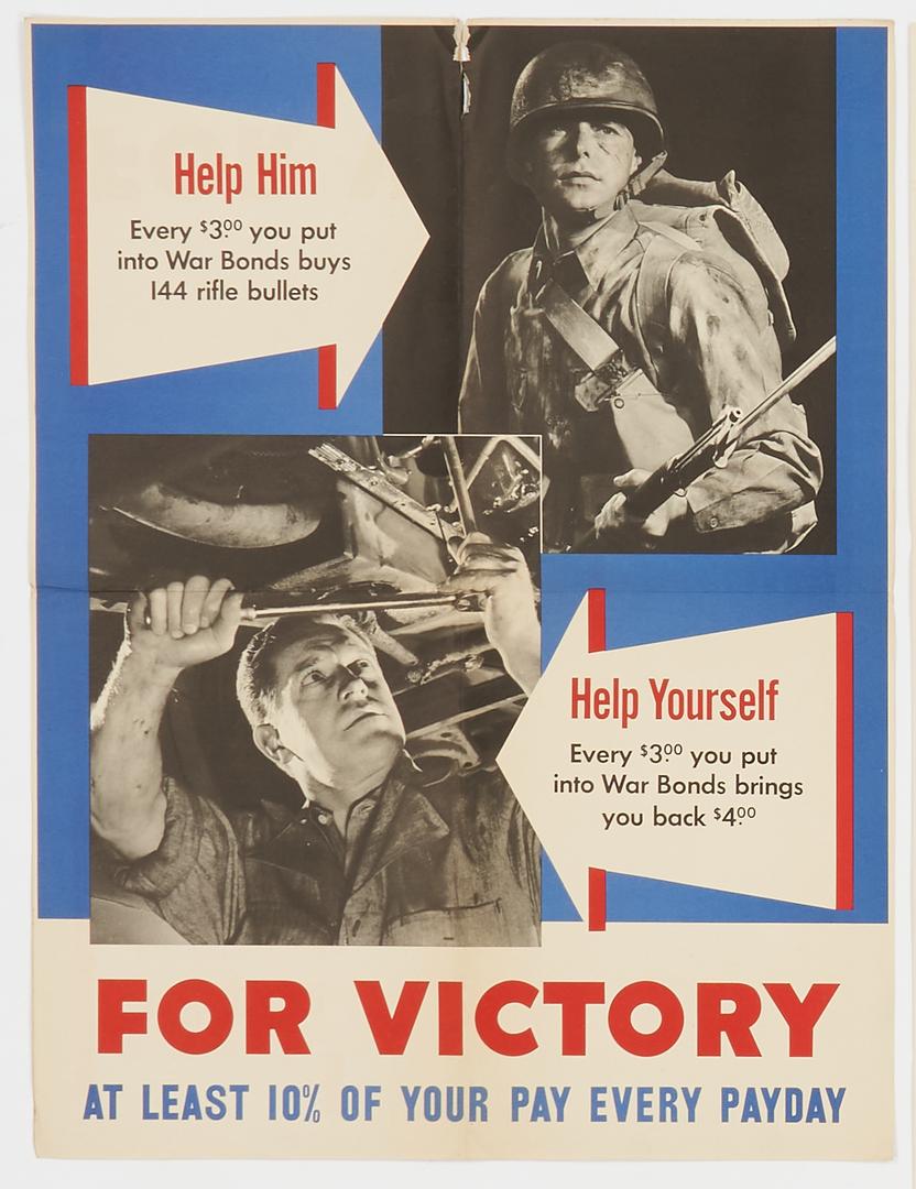 Lot 628: 12 WWII Propaganda posters