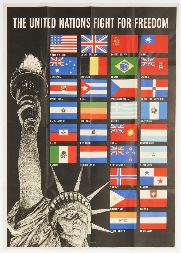 Lot 629: 4 WWII Propaganda posters