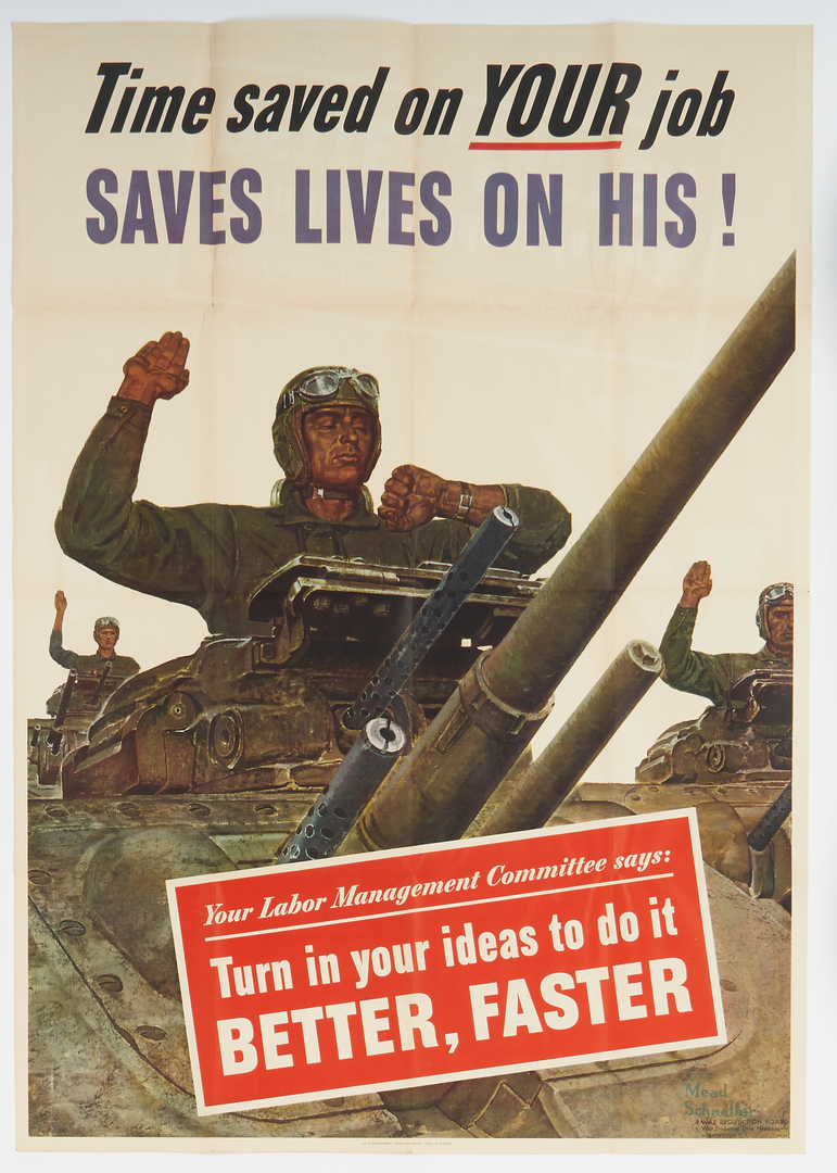 Lot 630: 7 WWII Propaganda posters