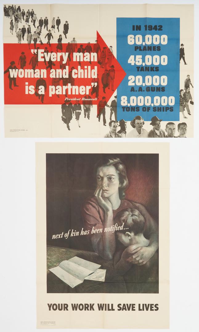 Lot 631: 12 WWII Propaganda posters inc John Atherton