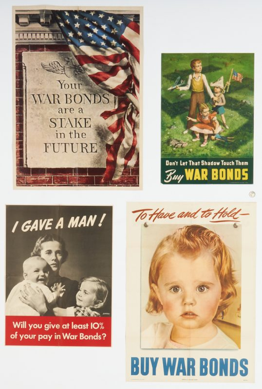 Lot 632: 4 WWII Propaganda Posters inc. Lawrence Beall Smith